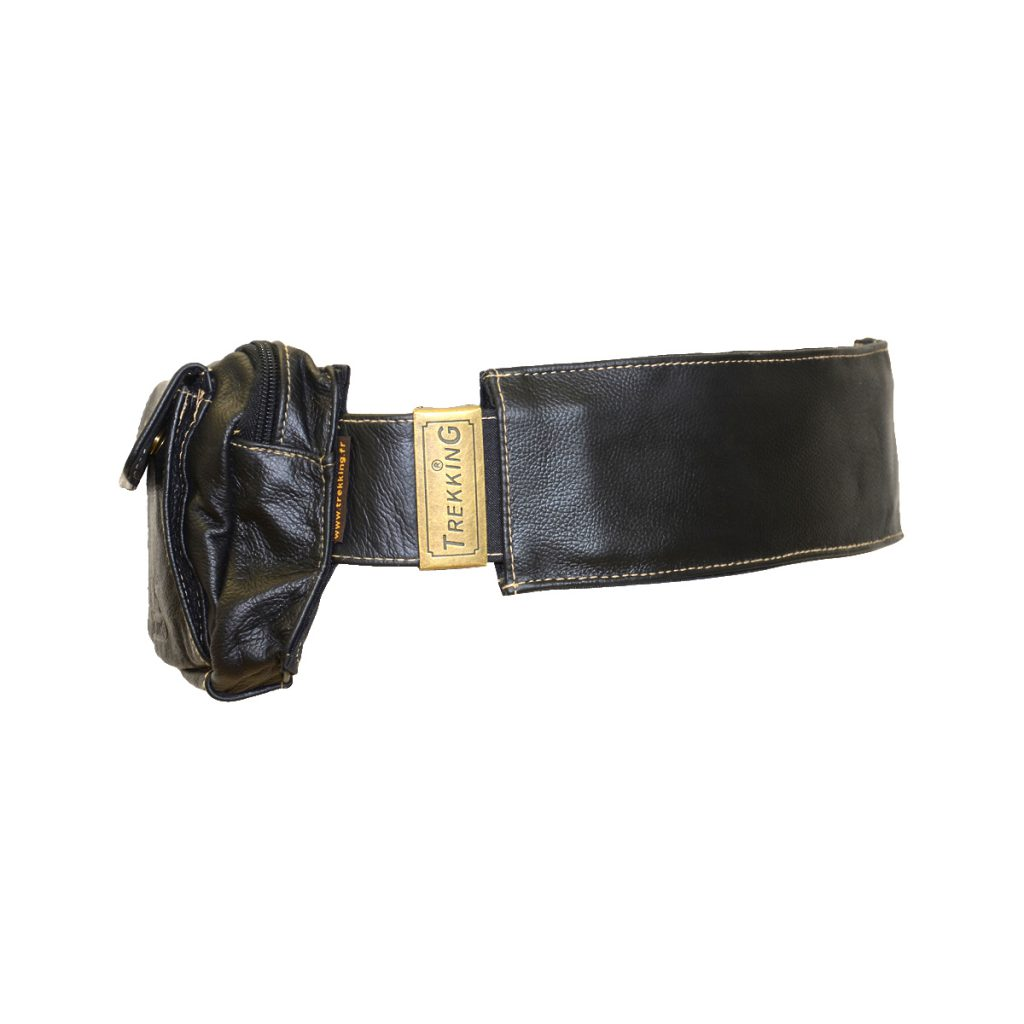 ceinture de voyage boucle a griffe en cuir