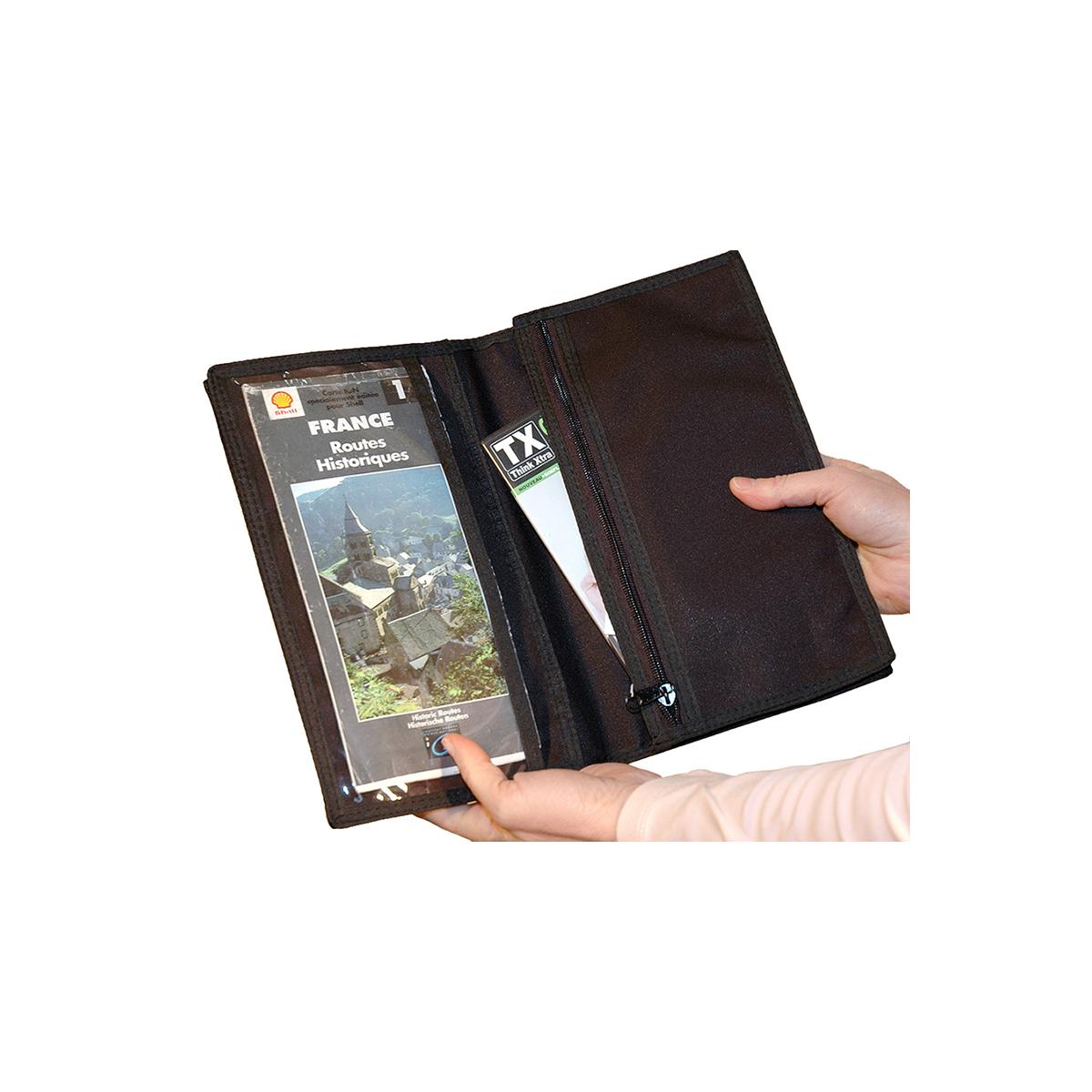 pochette pour documents de voyage ou tour de cou. Black Bedroom Furniture Sets. Home Design Ideas
