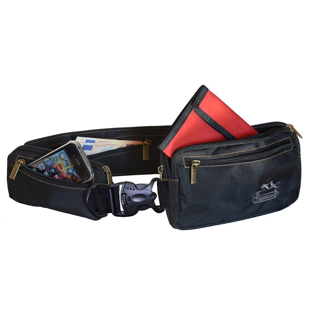 ceinture de voyage multi poches boucle clip