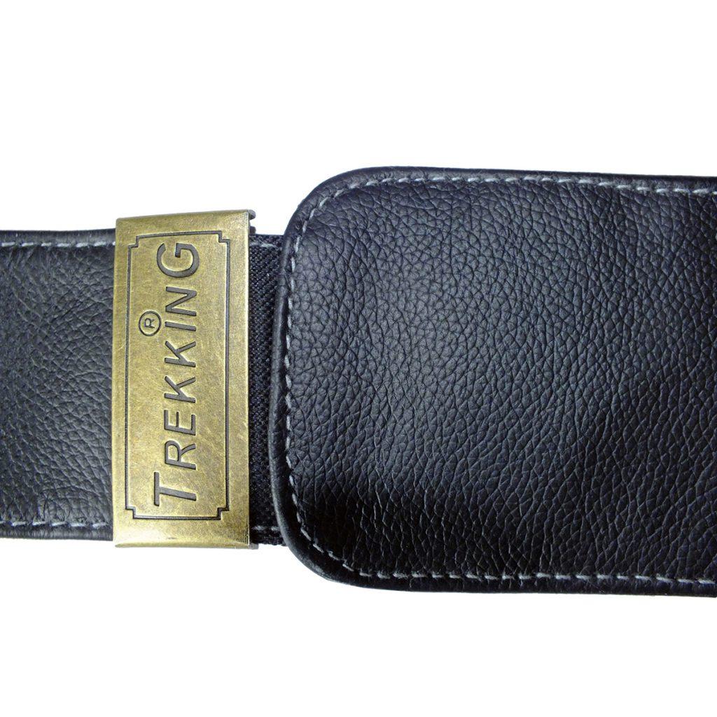ceinture de voyage multi poches boucle clip en cuir
