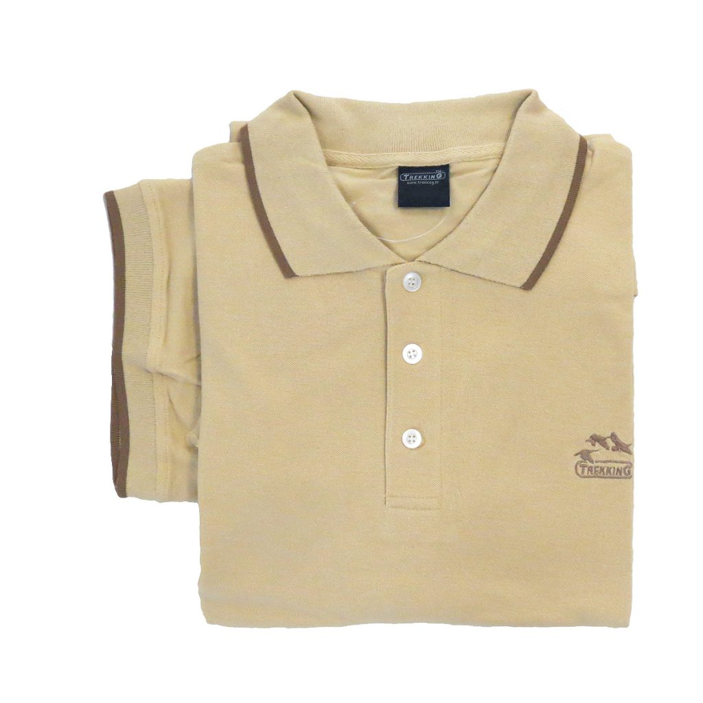 polo manches courtes beige
