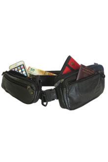 Ceinture triple poches / boucle clip de sécurité