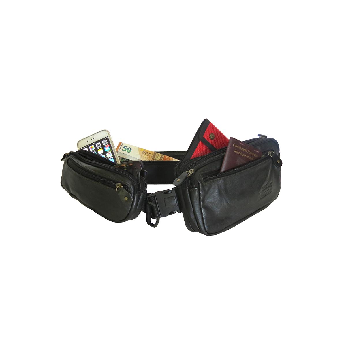 look out for great fit big discount Ceinture triple poches / boucle clip de sécurité